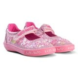 Lelli Kelly Pink Butterfly Glitter Beaded and Embroidered Dolly Shoes