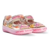 Lelli Kelly Pink And Gold Heart Sequin and Embroidered Baby Dolly Shoes