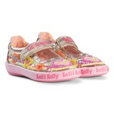 Lelli Kelly Pink And Gold Heart Sequin and Embroidered Mila Dolly Shoes