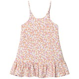 Molo Pink Orange And White Random Dots Carolina Dress