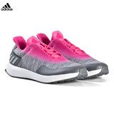 adidas Performance Grey and Pink RapidaRun Uncaged Trainers
