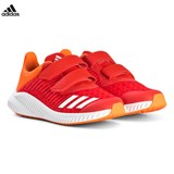 adidas Performance Red and Orange FortaRun Velcro Trainers