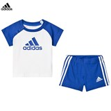 adidas Performance Blue and White Boys Infants Shorts and T-Shirt Set