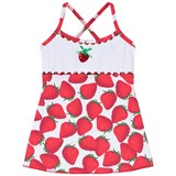 Pate de Sable Red Strawberries Print Infants Sundress