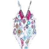 Pate de Sable Printed Swimsuit with Tassel Detail