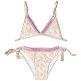 Pate de Sable Gold Crochet and Pink Trim Bikini