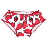 Pate de Sable Red Strawberry Print Infant Swim Briefs