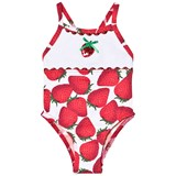 Pate de Sable Red Strawberry Print Infant Swimsuit