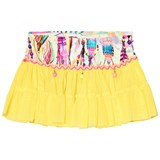 Pate de Sable Yellow Print Pom Pom Skirt