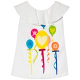 Agatha Ruiz de la Prada White Multicolour Balloons And Streamers Print Dress