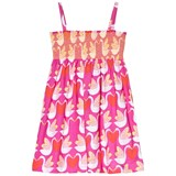 Agatha Ruiz de la Prada Pink Goose And Heart Print Strappy Dress