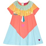 Agatha Ruiz de la Prada Blue And Pink Heart Face Print Dress