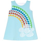 Agatha Ruiz de la Prada Blue Rainbow And Cloud Print Sleeveless Dress