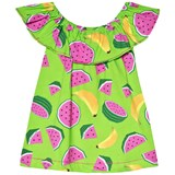 Agatha Ruiz de la Prada Green Pink Fruit Print Dress