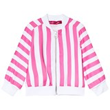 Agatha Ruiz de la Prada Pink And White Striped Bomber Jacket