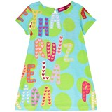 Agatha Ruiz de la Prada Blue Green Spots and Multicolour Agatha Print Dress
