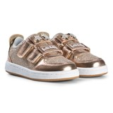 Lelli Kelly Gold Metallic and Jewelled Star Detachable Velcro Strap Trainers
