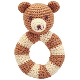 natureZOO Brown Mr Teddy Ring Rattle