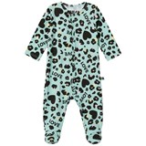 The BRAND Turquoise Leopard Baby Pyjamas