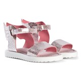 Step2wo Pink Leather Dreda Winged Sandals