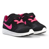 Nike Black and Pink Nike Downshifter 7 Kids Shoe