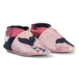 Robeez Pink Mermaid Applique Leather Crib Shoes