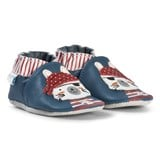 Robeez Blue Pirate Cat Leather Crib Shoes