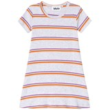 Molo White Pink And Orange Stripe Campa Dress