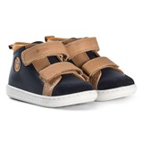 Shoo Pom Navy and Camel Hi-Top Shoes