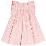 Cyrillus White and Pink Smock Dress