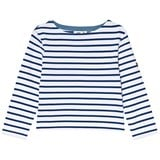 Cyrillus Blue and White Stripe Long Sleeve T-Shirt