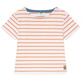 Cyrillus Orange and White Stripe T-Shirt