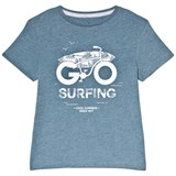 Cyrillus Blue Bike Print T-Shirt