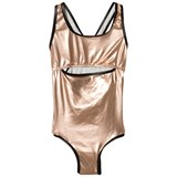 Andorine Rose Gold Metallic Cut Out Swimsuit