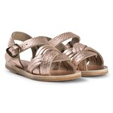 Ancient Greek Sandals Pink Metal and Sand Strap Little Electra Sandals