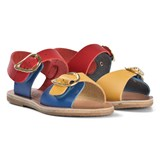 Ancient Greek Sandals EXCLUSIVE Red, Blue and Yellow Irini Sandals