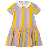 Vivetta Pink, Yellow and Blue Stripe Collared Dress