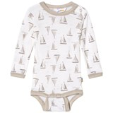 Joha Feather Grey And White Sea And Sky Long Sleeve Baby Body