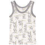 Joha Grey And White Monkey Undershirt