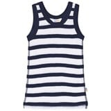 Joha Marine Blue And White Stripe Undershirt