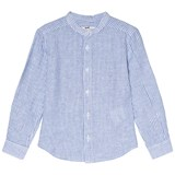 Cyrillus Blue and White Stripe Collar Shirt