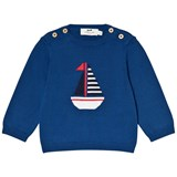 Cyrillus Blue Sailboat Knit Jumper