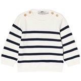 Cyrillus White and Navy Knit Jumper