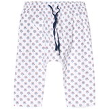 Cyrillus White Floral Print Pull Up Trousers