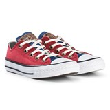 Converse Red Chambray Chuck Taylor All Star OX Junior Trainers
