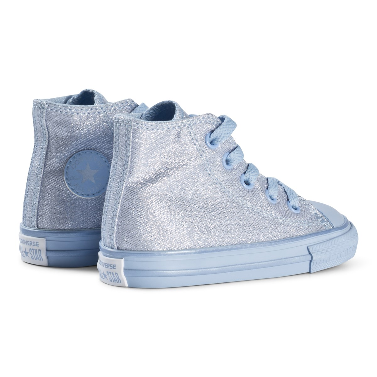 375cb1be1002 Converse Blue Chill Glitter Chuck Taylor All Star Infants Hi Tops ...