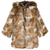 Gap Brown Faux Fur Hooded Jacket