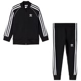 adidas Originals Black Branded Kids Tracksuit
