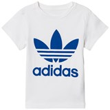 adidas Originals White and Blue Logo Kids T-Shirt