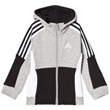 adidas Performance Grey Boys Colour Block Full Zip Hoodie